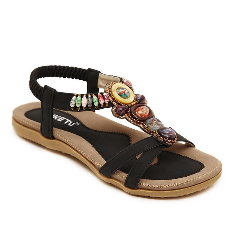 Bohemia Beads Women Sandals Open Toe Breathable Summer Sandals - fashionshoeshouse