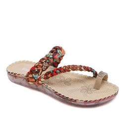 Bohemia Rhinestone Clip Toe Women Sandals for Vacation and Beach - fashionshoeshouse