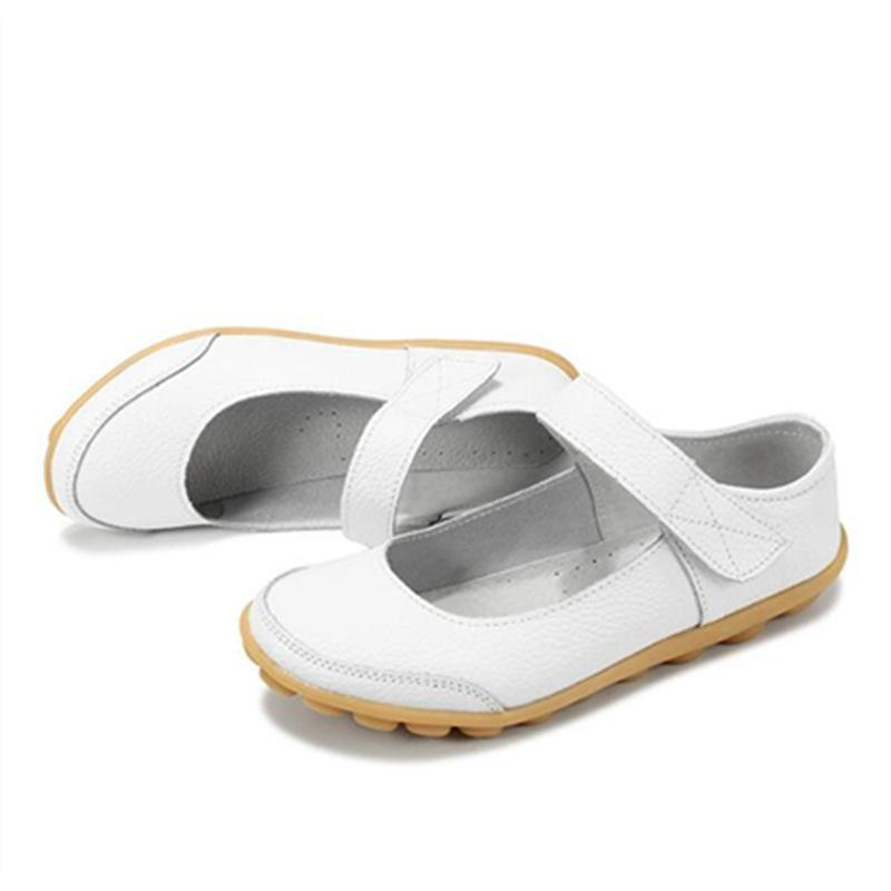 Casual Velcro Flats Non-slip Flat Shoes for Women - fashionshoeshouse