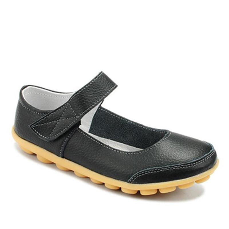 Hook Loop Casual Loafers for Women Non-slip Driving Shoes - fashionshoeshouse