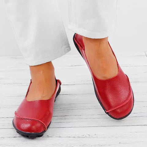 Plus Size Slip On Daily Casual Women Flats - fashionshoeshouse