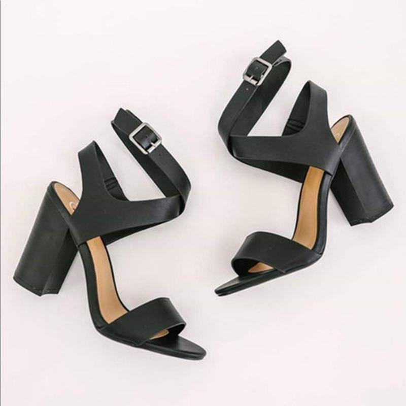 High Heels Cross-tie Strappy Adjustable Buckle Sandals - fashionshoeshouse