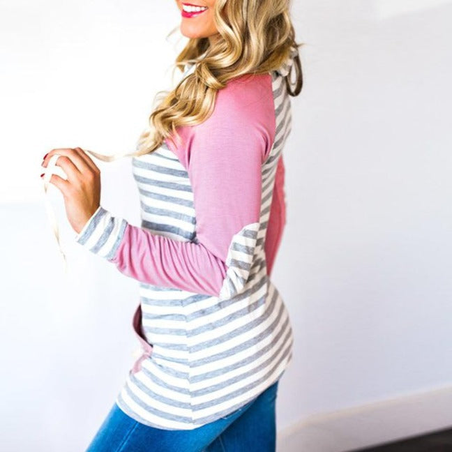 Fashion Stripe Print Sweatshirt