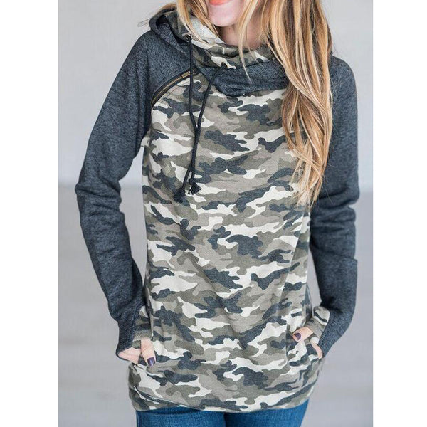 Hooded Long Sleeves Casual Sweatshirt