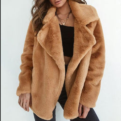 Winter Faux Fur Soft Cardigan - fashionshoeshouse