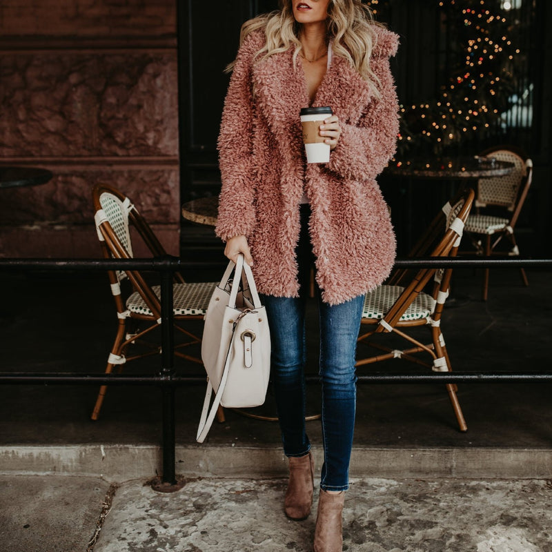Winter Warm Faux Fur Teddy Coat - fashionshoeshouse