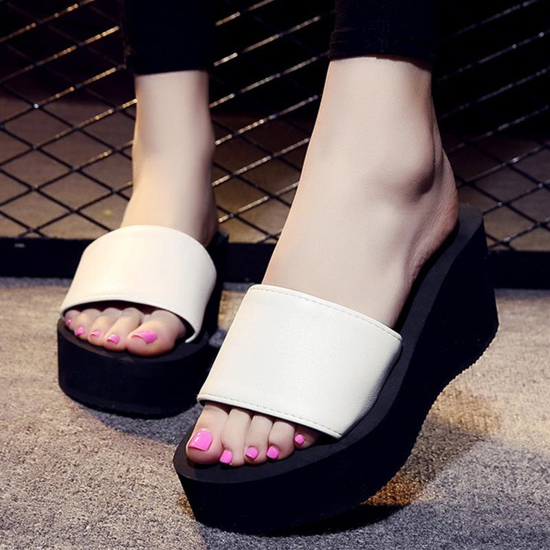 Rose Elastic Band High Heel Slippers For Women - fashionshoeshouse