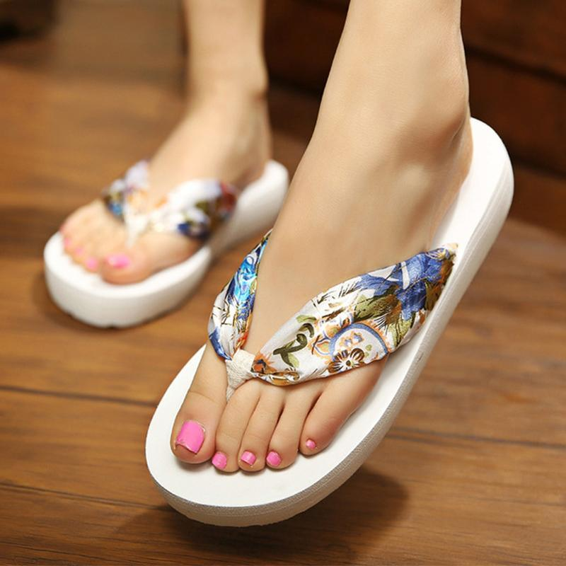 11 Colors Soft Satin Laces Low Heel Beach Slippers For Women - fashionshoeshouse