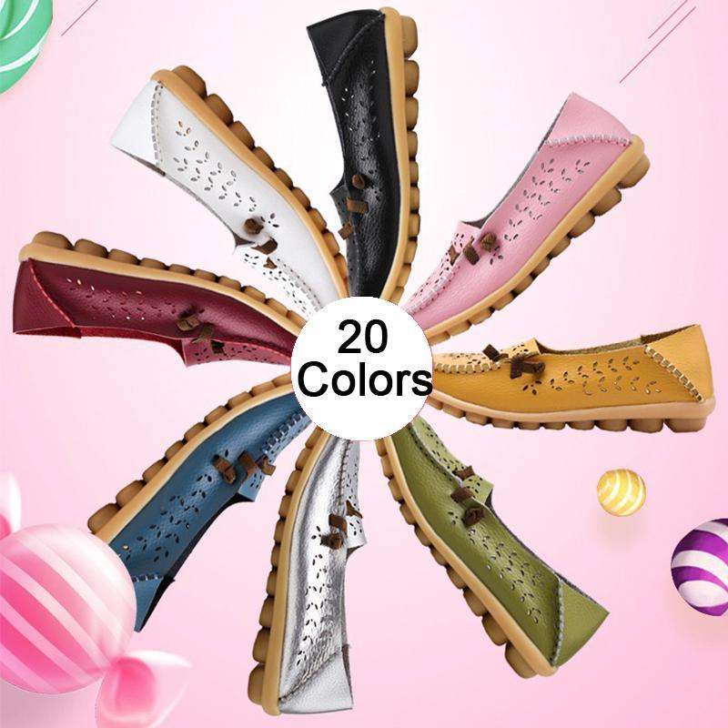 Summer Hollow up Breathable Flats for Women 20 Colors - fashionshoeshouse
