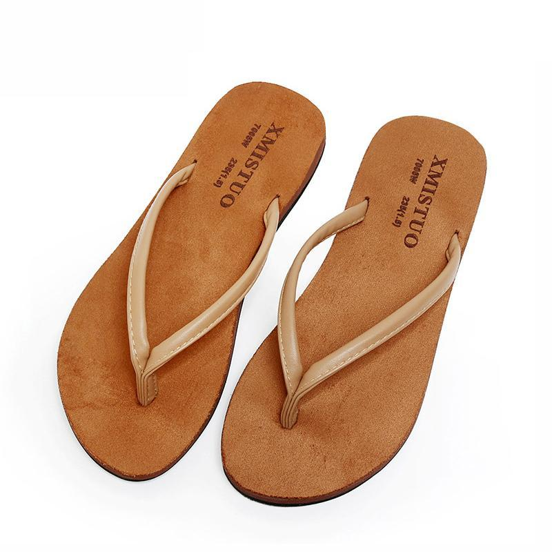 Summer Slippers Flat Heel Comfortable Walking Beach Flip Flops - fashionshoeshouse