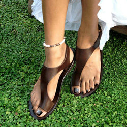 Thong Sandals Leather Sandals Strap Sandals - fashionshoeshouse