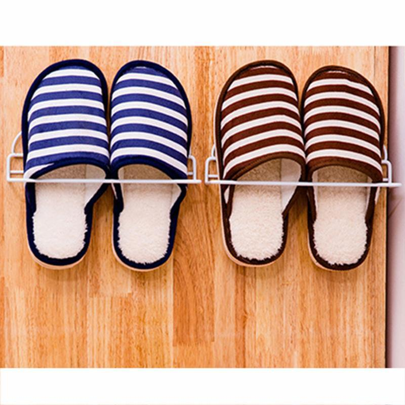Wall Mounted Pure Color One Layer Shoes Rack - fashionshoeshouse
