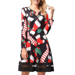 Winter 2019 Casual Printed Party Dress 15 Patterns - fashionshoeshouse