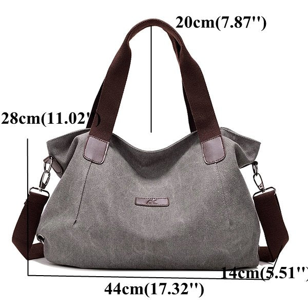 Women Canvas Large Capacity Shoulder Bags Handbags Casual Crossbody Bags For Travel - fashionshoeshouse