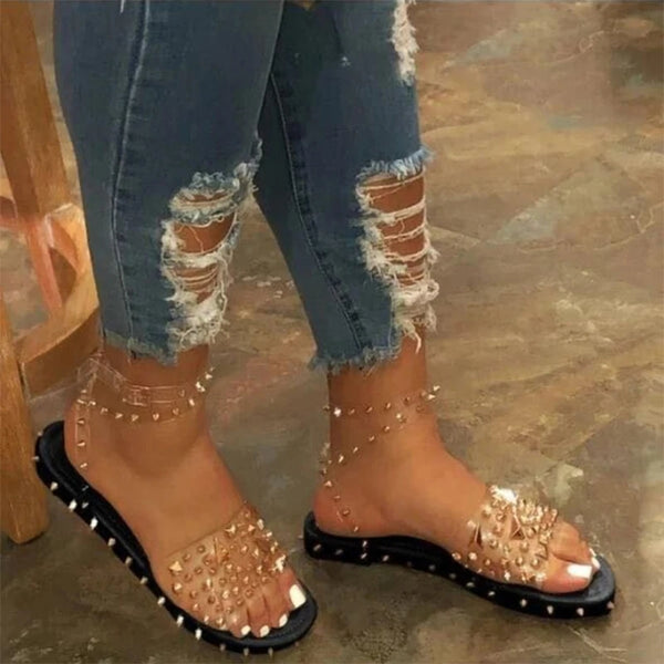 Women New Fashion Strappy Roman Studded Sandals