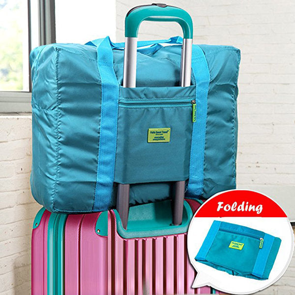 Large Capacity Nylon Travel Bag Women Outdoor Luggage Bag - fashionshoeshouse