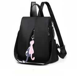 Women's anti-theft backpack simple school bag Oxford cloth - fashionshoeshouse