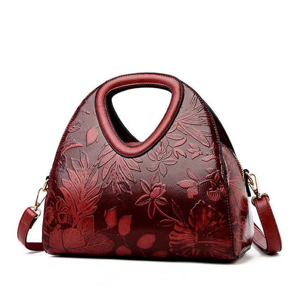 High Quality Flower Pattern Vintage Handbags Shoulder Bag - fashionshoeshouse