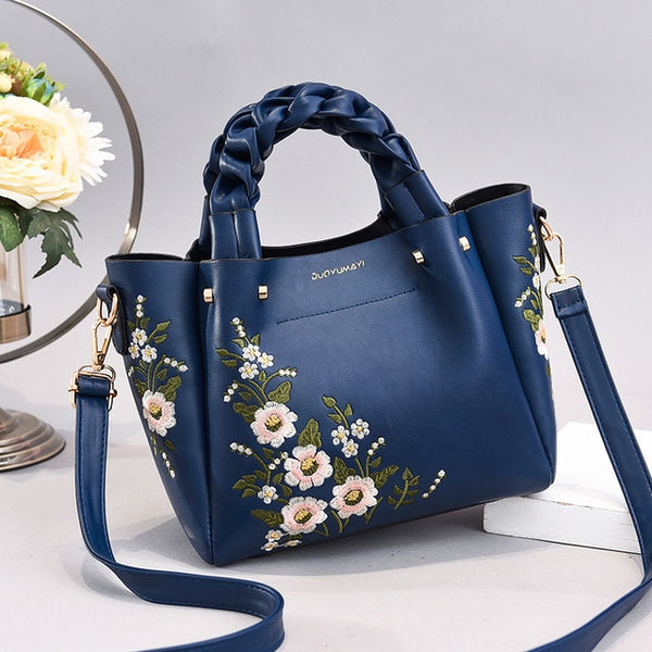 Embroidery Vintage Ladies Shoulder Bags For Women - fashionshoeshouse