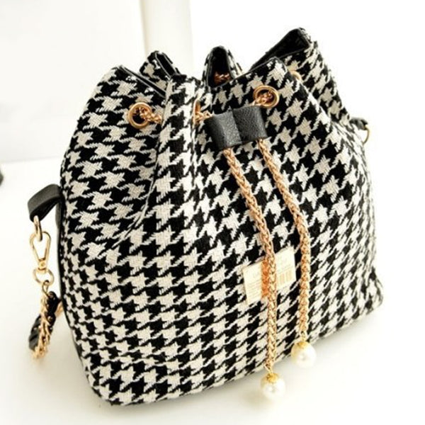 Vintage Bucket Bag For Women Crossbody Bag Canvas - fashionshoeshouse