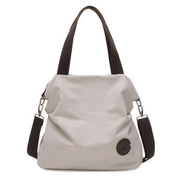 Women Casual Canvas Shoulder Bags Teenager Girls Bags For Book - fashionshoeshouse