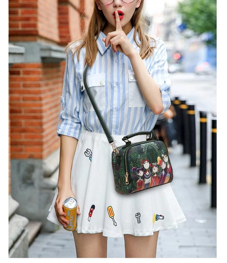 Spring/summer women shoulder bag fashion printed - fashionshoeshouse