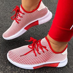 Womens fashion sneakers mesh breathable tennies shoes for walking and running