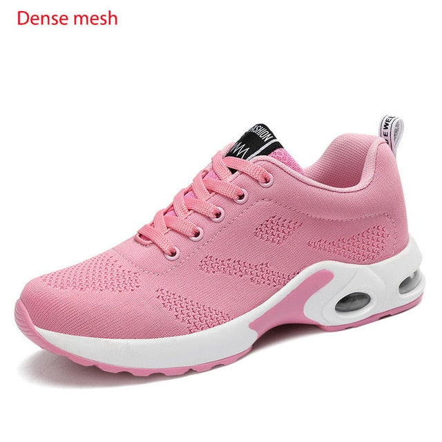Women's air cushion running shoes fashion lightweight breathable sneakers gym shoes
