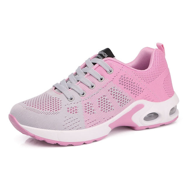 Women's air cushion running shoes lightweight sneakers colorful breathable outdoor sports shoes
