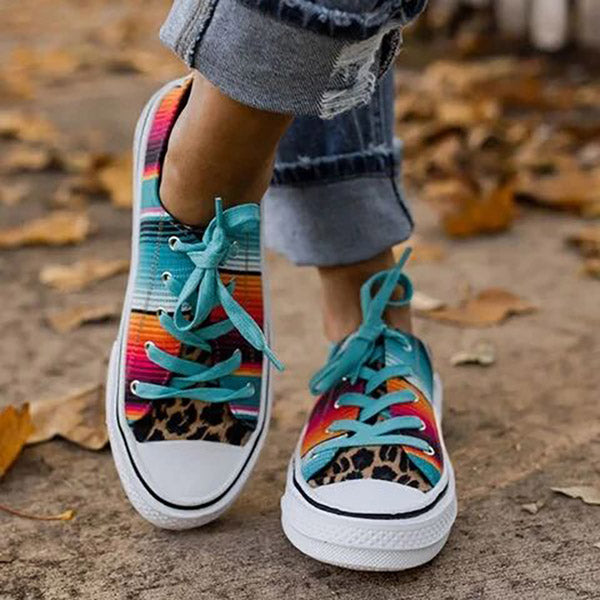Women's colorful sneakers for summer fashion flat canvas sneakers