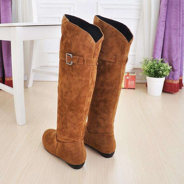 Thigh high buckle boots for winter - fashionshoeshouse