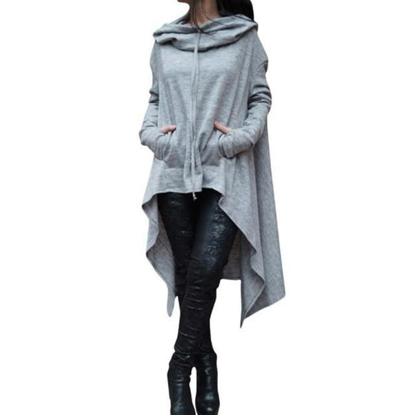 Casual Irregular Hood Sweatshirt - fashionshoeshouse