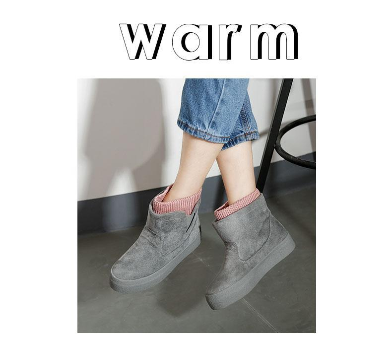 Winter Ankle Boots for Women Warm Comfortable Walking Flat Shoes - fashionshoeshouse