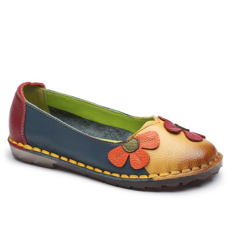 Fashion Spring Summer Autumn Flower Loafers for Women Slip-on Shoes - fashionshoeshouse