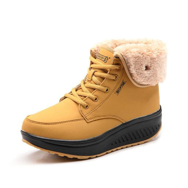 Fashion Women Warm Plush Snow Boots - fashionshoeshouse