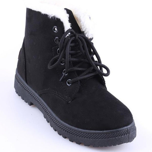 5 Colors Slip-resistant Snow Boots Warm Fur Boots for Women - fashionshoeshouse