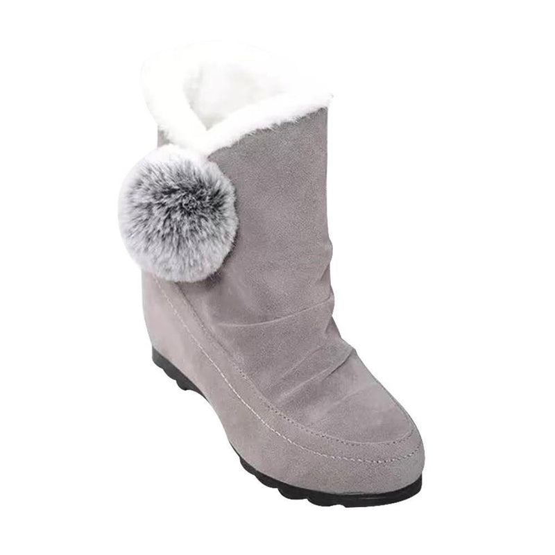 Warm Fur Ankle Boots for Women Casual Suede Shoes - fashionshoeshouse