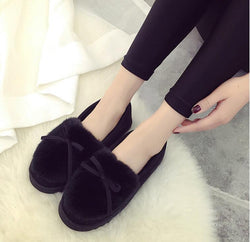 Thick Plush Warm Winter Boots Boots for Women Slip-on Shoes - fashionshoeshouse