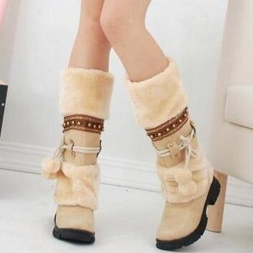 Thickened Fur Winter Warm Martin Boots - fashionshoeshouse