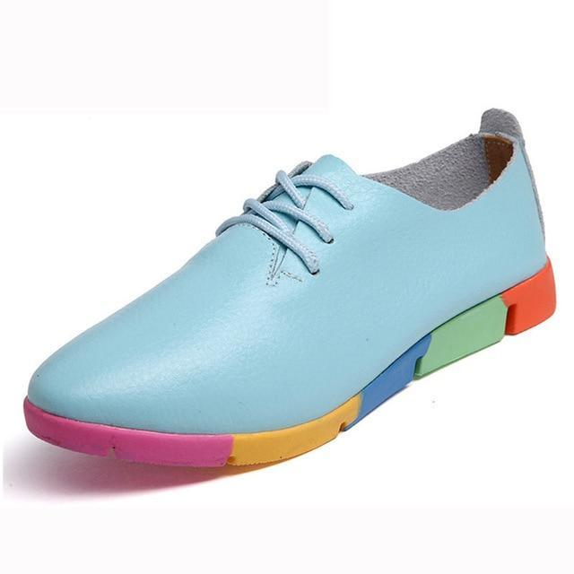 Breathable Colorful Flats For Women - fashionshoeshouse
