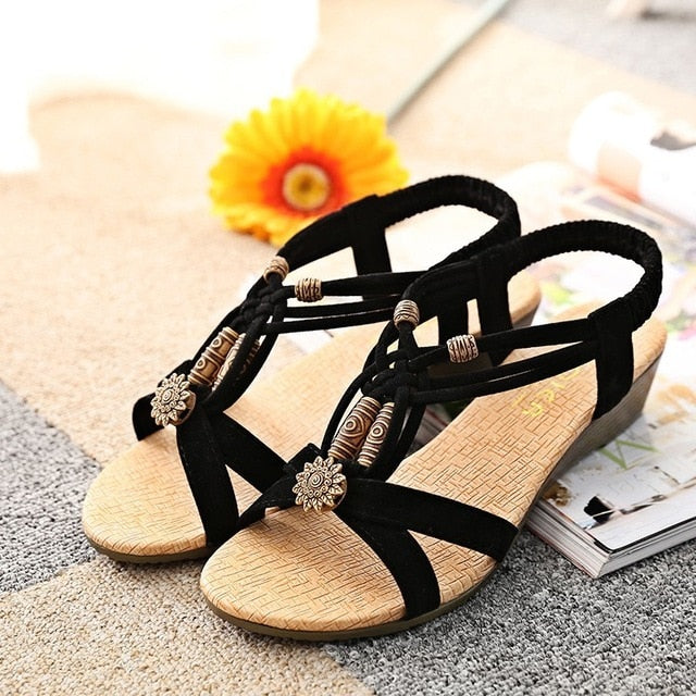 Women sandals comfort sandals boho summer shoes - fashionshoeshouse