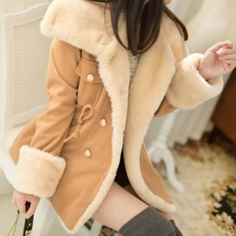 Jackets For Women Autumn And Winter Casual Thick Double Breasted Coats - fashionshoeshouse