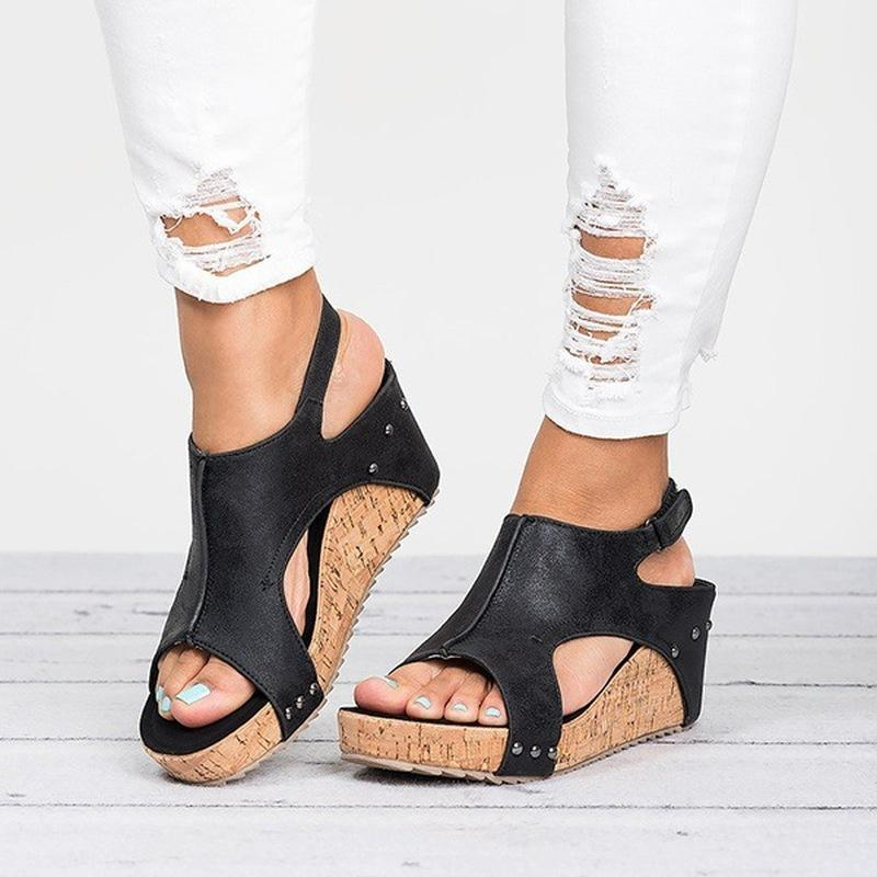 Wedges Heels Sandals With Platform - fashionshoeshouse