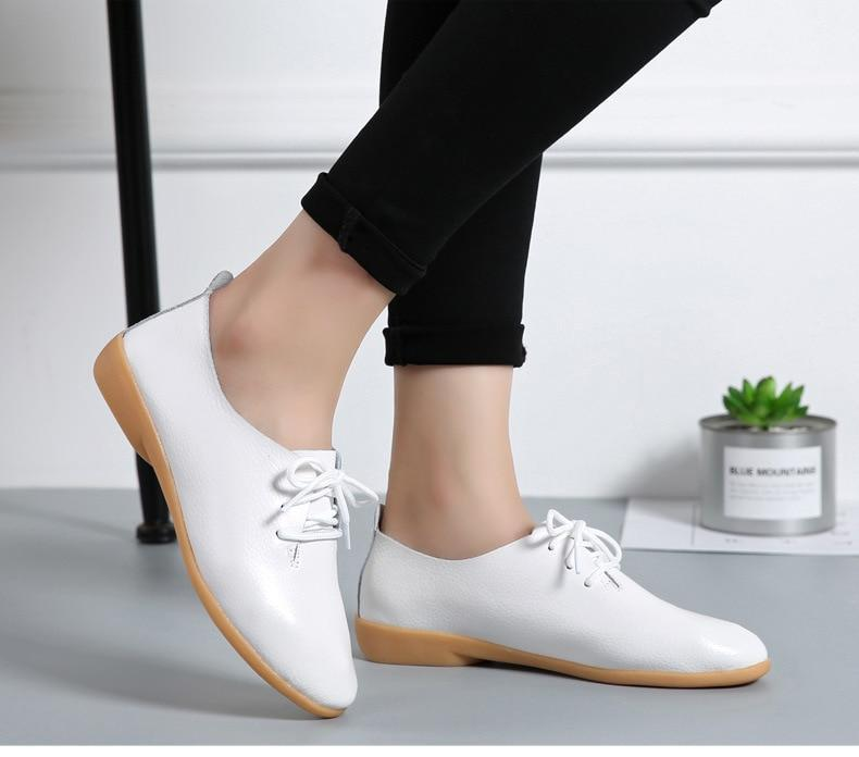 Spring Summer Oxford Flat Casual Lace Up - fashionshoeshouse