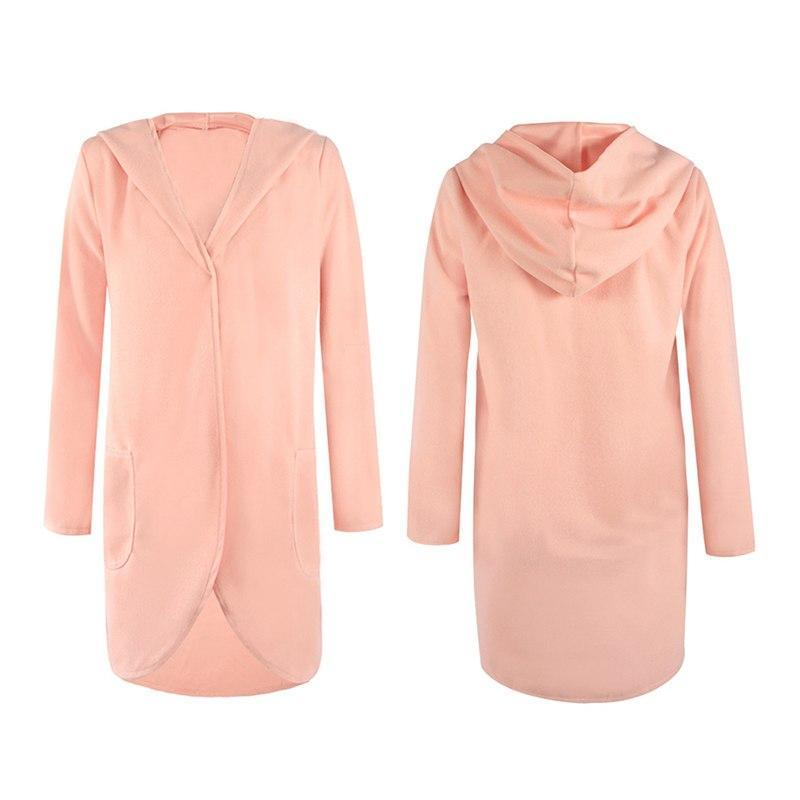 Loose and soft hooded coat - fashionshoeshouse