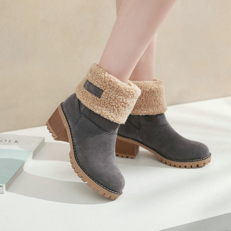 Winter Fur Warm Snow Boots - fashionshoeshouse