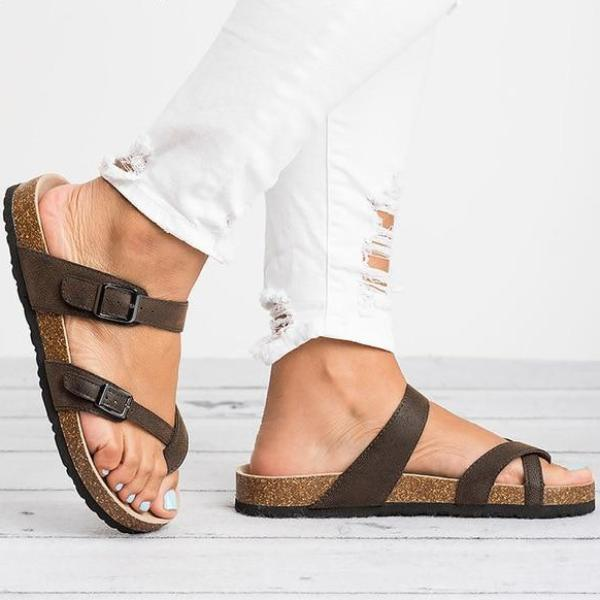 Summer Casual Buckle Soft Sandals - fashionshoeshouse
