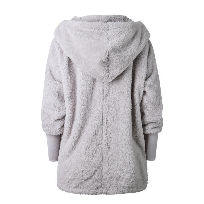 Soft Loose Hooded Teddy Jacket Winter - fashionshoeshouse