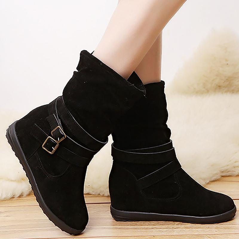 Winter warm plush ankle boots for woman - fashionshoeshouse