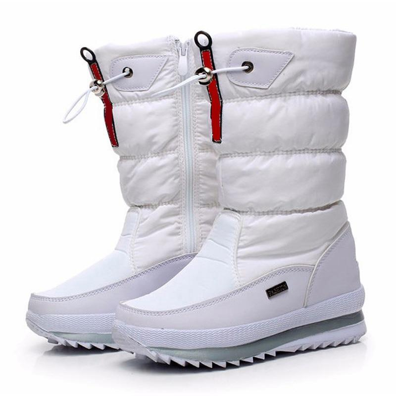 Thick plush non-slip waterproof snow boots for women - fashionshoeshouse